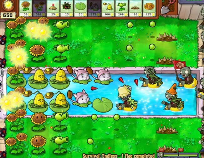 Plants vs. Zombies battle scene